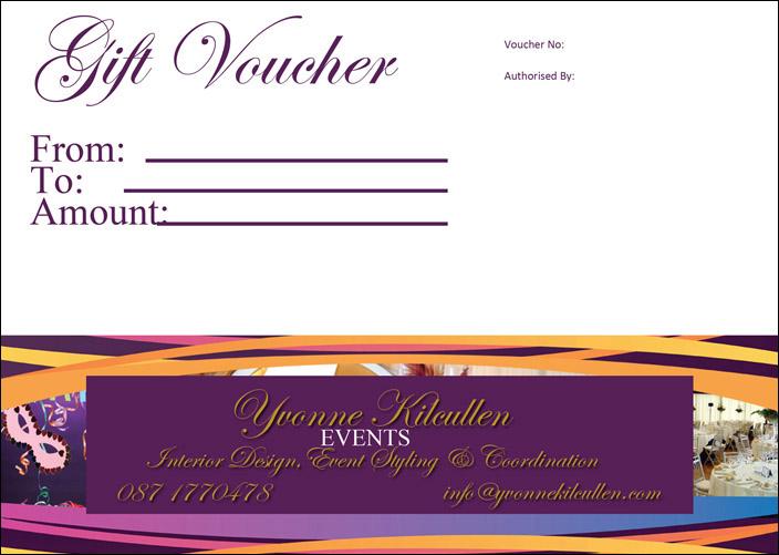 Yvonne Kilcullen Events Gift Voucher